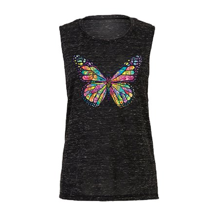 Colorful Cute Butterfly Women Muscle Tank Official Dean Russo
