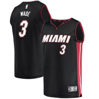 Dwyane Wade Miami Heat Fanatics Branded Youth Fast Break Road Jersey Black - Icon Edition