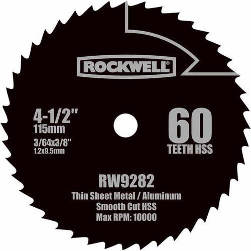 "Rockwell Compact Circular Saw 4.5"" HSS Blade"