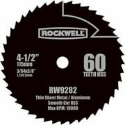 "Rockwell Compact Circular Saw 4.5"" HSS Blade"