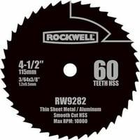 Rockwell Compact Circular Saw 4.5-Inch Hss Blade