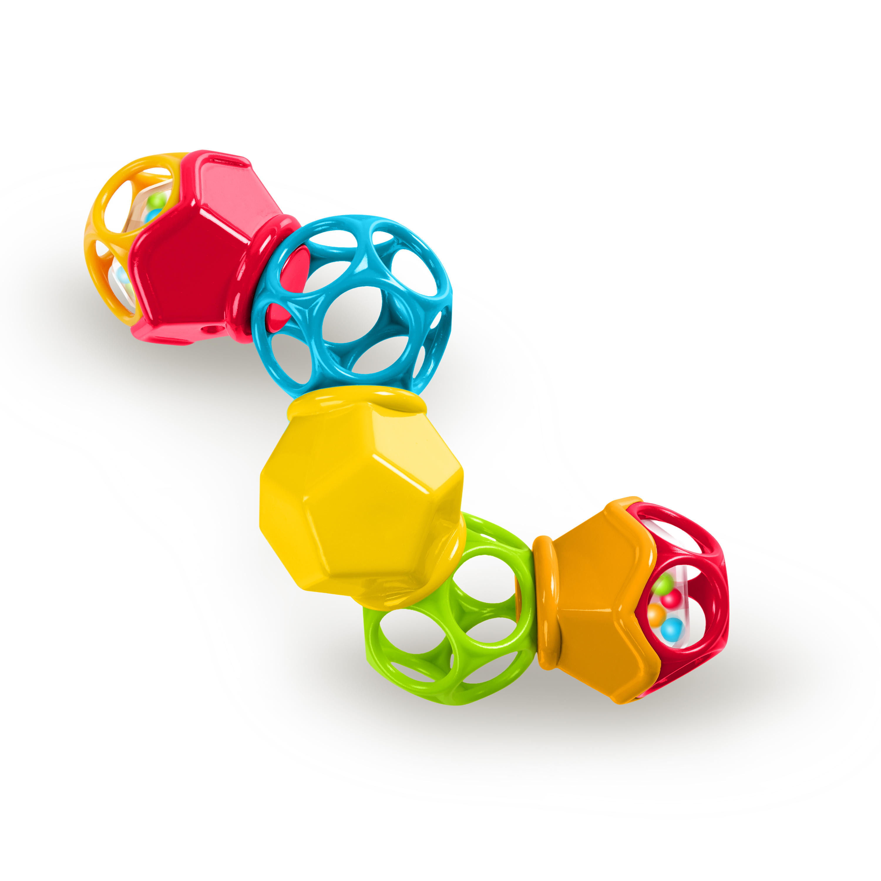 Oball Clicky Twister Easy Grasp Twist and Click Rattle