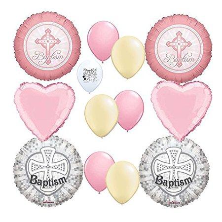 Baptism Girl Balloon Decoration Kit - Baptism Decorations