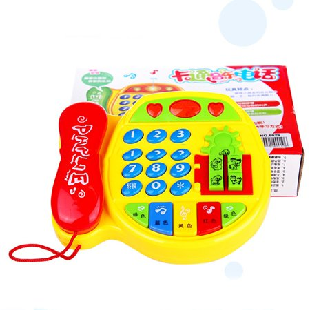 Cartoon Buttons Phone Educational Intelligence Developmental Toy Gift - image 5 of 6