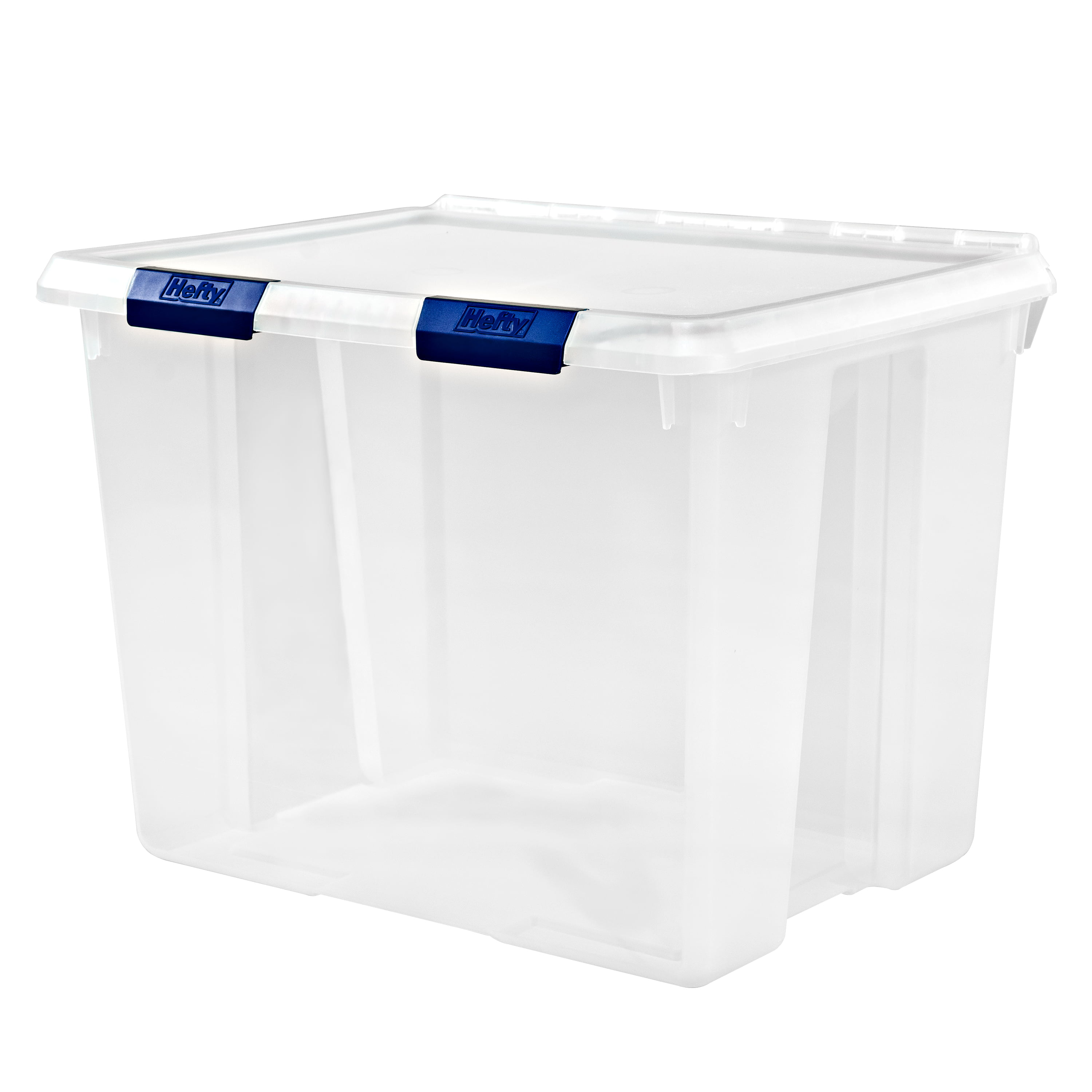 Hefty PROTECT Heavy Duty Storage, 70 Qt. Lid with Protective Seal / Clear