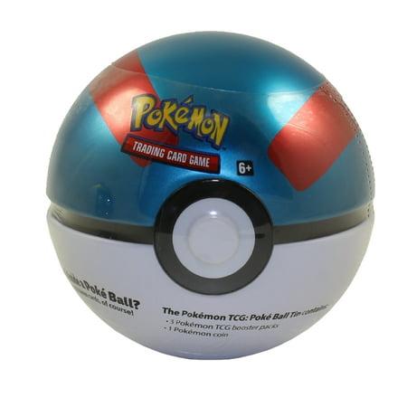 Pokemon Sun & Moon - 2019 Collectors Poke Ball Tin - GREAT BALL (3 packs & 1 Coin) 1st Wave Collectors Tin