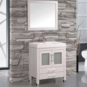 MTD Vanities Greece 30'' Single Sink Bathroom Vanity Set with Mirror