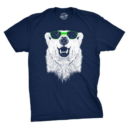 Mens Polar Bear Wearing Sunglasses Tshirt Funny Zoo Animal Graphic (Funny Shirts To Wear On A Cruise)