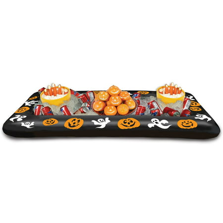 Pack of 6 Inflatable Pumpkin and Ghost Printed Halloween Buffet Cooler 53.75