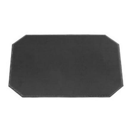 Leatherette Cut Corner (17 in. x 12 in. Cut Corner Black Leatherette)