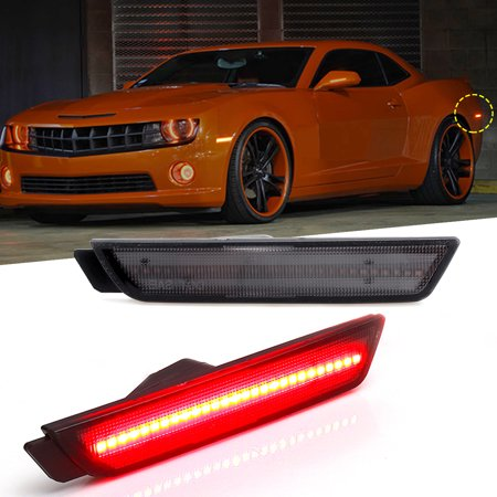 2PCS Smoked Lens LED Rear Turn Signal Side Markers Lights RH LH For 2010-2015 Chevy Camaro