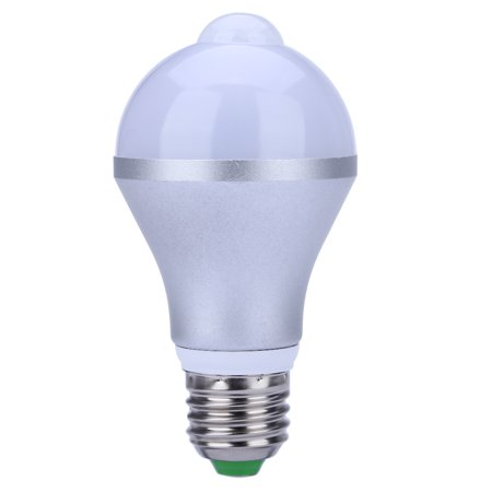 E26 7W LED Motion Sensor Light Bulb, Cold White Auto On/Off Night Light for Corridor Stairs Garage Hallway - image 1 de 6