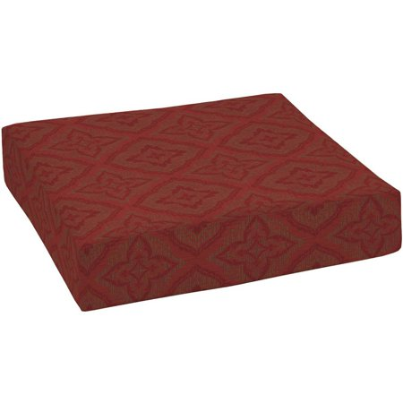 Better Homes And Gardens Outdoor Patio Deep Seat Bottom Cushion Red Medallion Woven