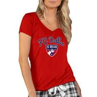 FC Dallas Concepts Sport Women's Marathon V-Neck T-Shirt - Red