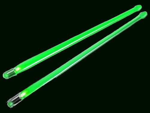 ION Firestix Light-Up Drumsticks Green by