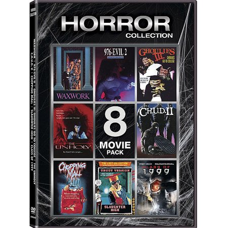 Horror Collection: 8-Movie Pack - Waxwork / 976-Evil 2 / Ghoulies III / The Unholy / C.H.U.D. II / Chopping Mall / Slaughter High / Class Of 1999 (Widescreen) - Arrowhead Mall Movies