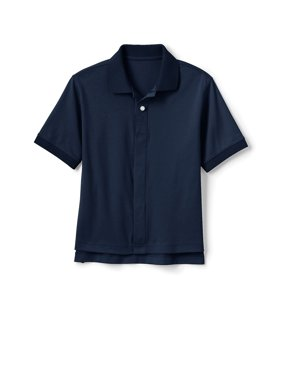 Lands' End Boys 4-20 Adaptive School Uniform Interlock Polo Shirt