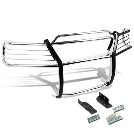 For 2002 to 2005 Ford Explorer 4-Door Front Bumper Protector Brush Grille Guard (Chrome) 03 04