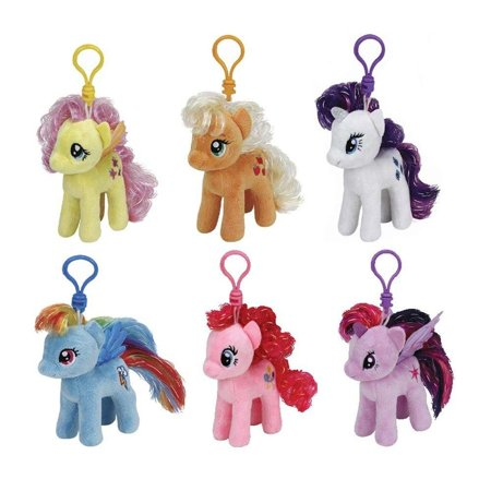 Ty My Little Pony Plush Beanie Babies Set -- Collection of 6 My Little Pony  4 Inch Plush Toys with Clip - Walmart.com 3024e40ba502