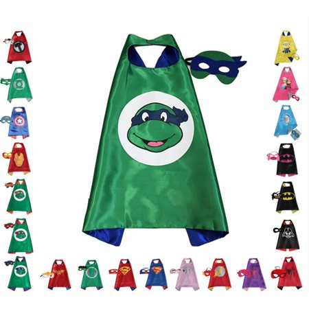 Leonardo Ninja Turtle Children Super Hero Cape and Mask for Boys, Costume](Superheroe Costume)