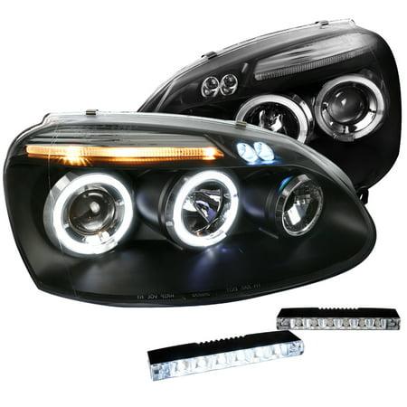 - Spec-D Tuning 2006-2008 Volkswagen Golf Black Dual Halo Projector Headlight W/ Bumper Led Fog Lamp (Left + Right) 2006 2007 2008