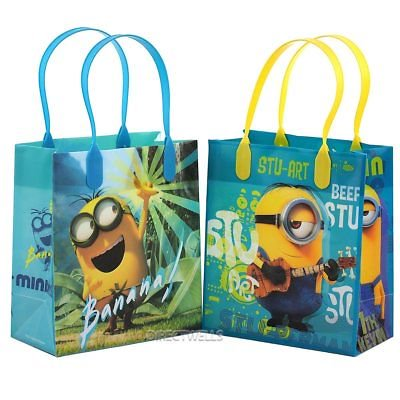 12PCS Dispicable Me Minions Goodie Party Favor Gift Birthday Loot Bag Licensed