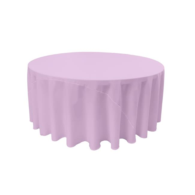 LA Linen TCpop132R-LilacP45 Polyester Poplin Tablecloth, Lilac - 132 in. Round - image 1 of 1