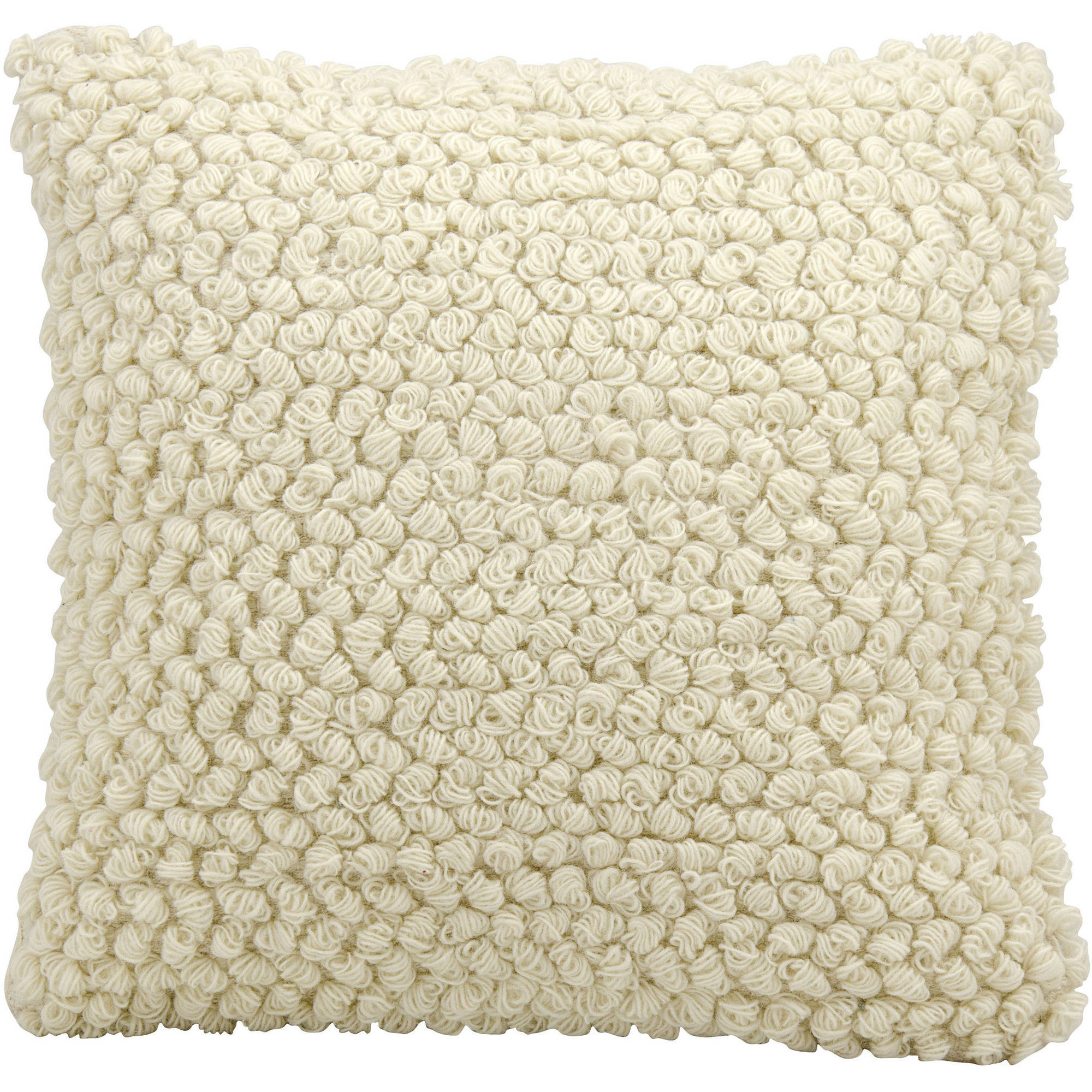 "Nourison Life Styles Thin Groop Loops Decorative Throw Pillow, 20"" x 20"", Ivory"