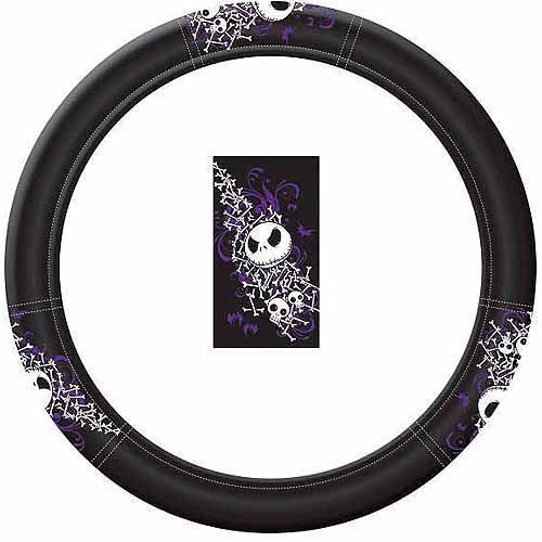 Plasticolor Nightmare Before Christmas Bones Steering Wheel Cover