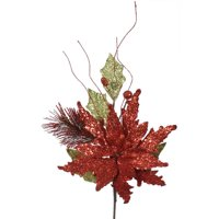 Red-Lime Poinsettia Spray - 19 in.