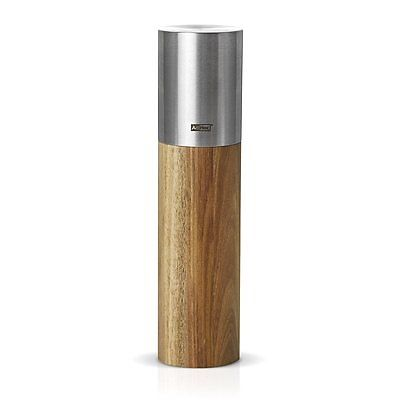 "AdHoc 8"" Goliath Midi Acacia Wood & Stainless Steel Salt or Pepper Mill by"