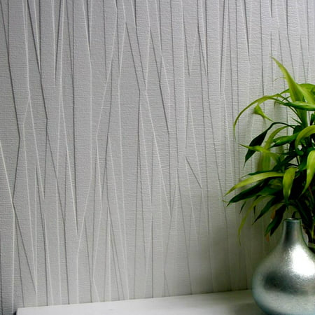 Brewster Folded Paper Paintable Textured Vinyl Wallpaper