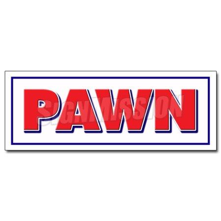 Pawn Shop Decal Sticker Buy Sell Trade Gold Fast Cash Guns Loans Advance