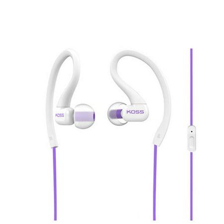 - Koss KSC32IV Sportclip Headphones with Mic Violet