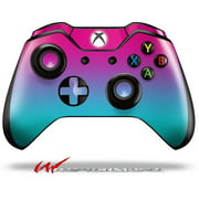 Decal Style Skin for Microsoft XBOX One Wireless Controller Smooth Fades Neon Teal Hot Pink - (CONTROLLER NOT INCLUDED)