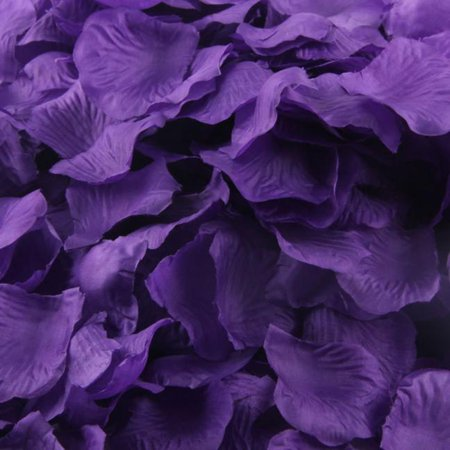 1000pcs Purple Silk Rose Artificial Petals Wedding Party Flower Favors (Purple Silk Rose Petals)
