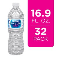 Nestle Pure Life Purified Water, 16.9 fl oz. Plastic Bottled Water (Pack of 32)
