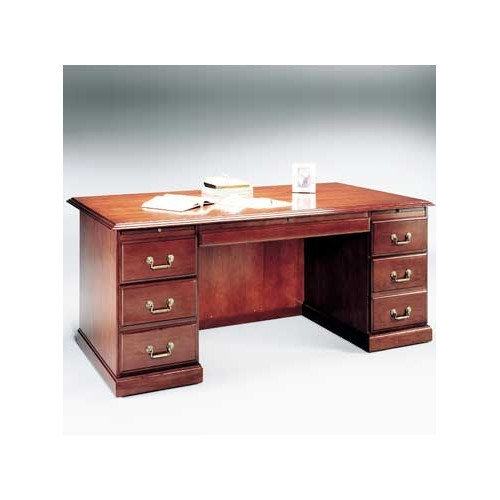 High Point Furniture Legacy Double Pedestal Executive Desk with 2 Right & 2 Left Drawers
