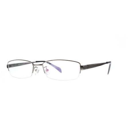 4a65154fe3 Ebe Prescription Glasses Mens Womens Gun Half Rim Rectangular Light Weigh  Anti Glare grade s1072 - Walmart.com