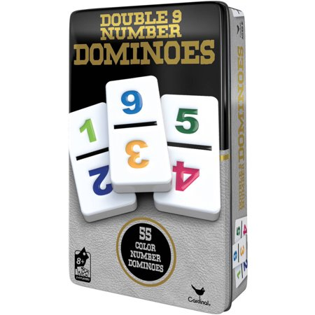 Double 9 Number Dominoes in Storage Tin