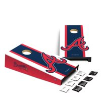 Atlanta Braves Stripe Design Desktop Cornhole Game Set