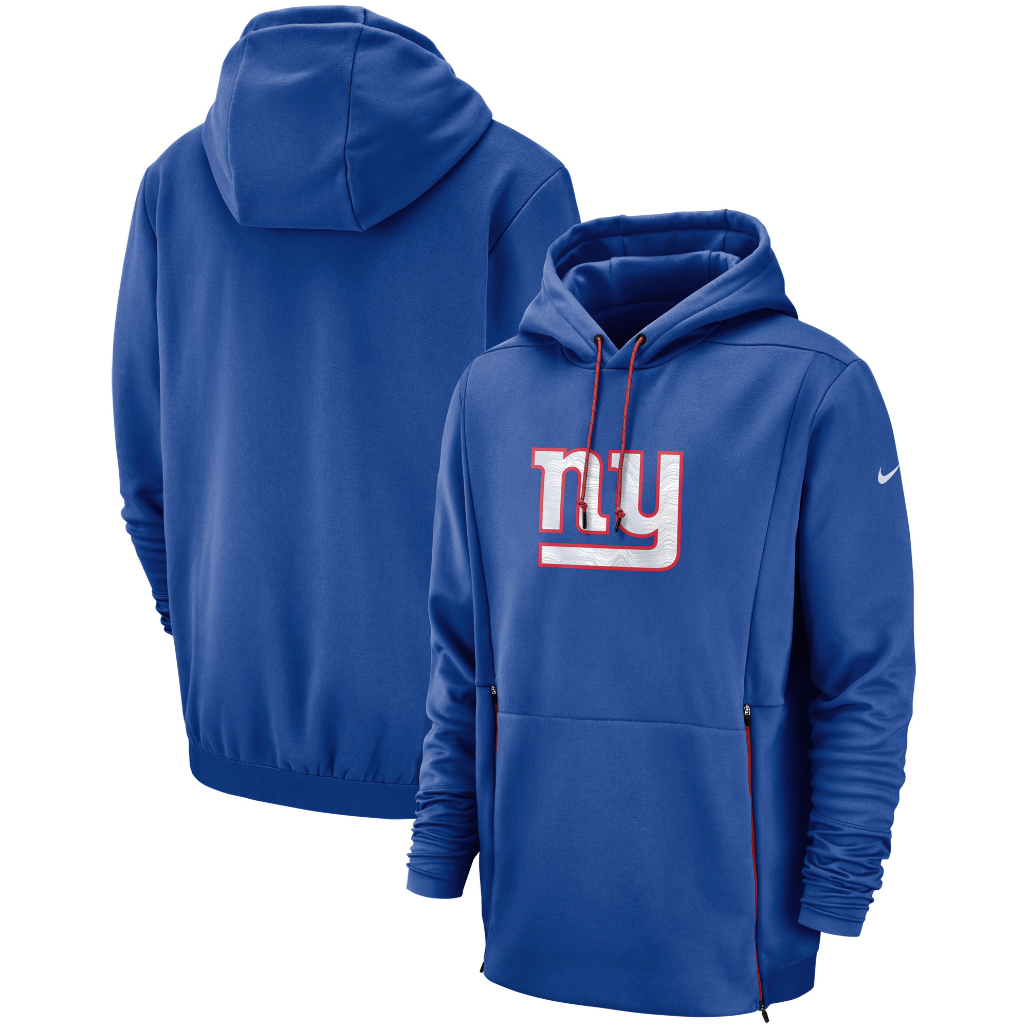 New York Giants Nike Sideline Performance Player Pullover Hoodie - Royal
