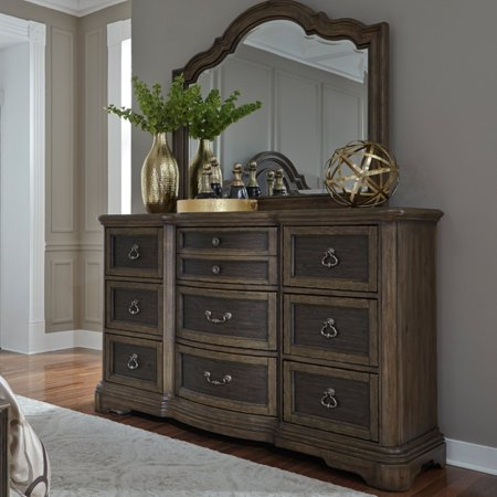 Liberty Furniture Industries Valley Springs 9 Drawer Dresser with Optional Mirror