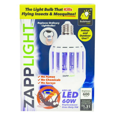ZappLight LED Lightbulb That Kills Mosquitos, As Seen On Tv
