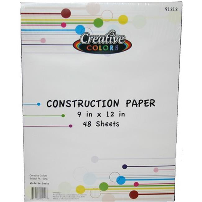 YDB 9 x 12 in.Construction Paper, 48 Sheets - Case of 48