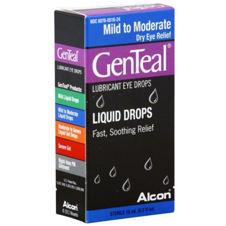 GenTeal Mild to Moderate Dry Eye Lubricant Drops 15 mL (Pack of 6)