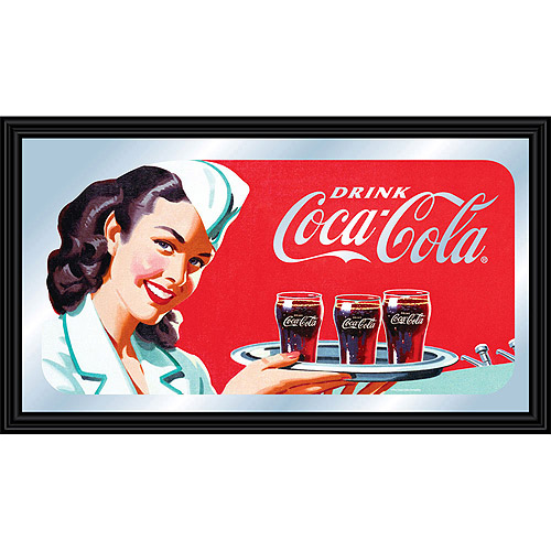 Coca-Cola Vintage Mirror, Horizontal Waitress w/ Coke