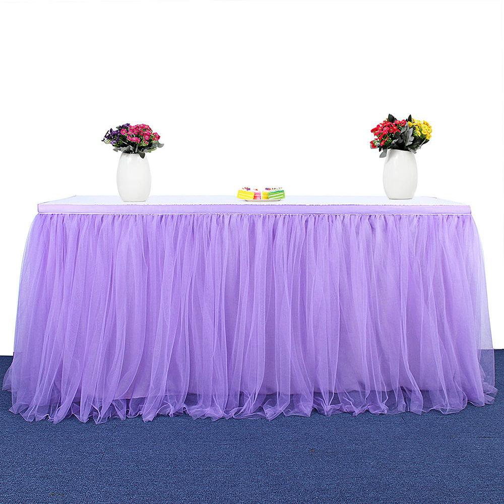 Handmade Tutu Tulle Table Skirt Table Cloth Skirts for Wedding Christmas Party