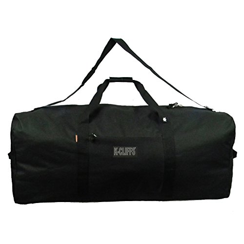 Heavy Duty Cargo Duffel Large Sport Gear Drum Set Equipment Hardware Travel Bag Rooftop Rack Bag (21 Inch, Black) by K-CLIFFS