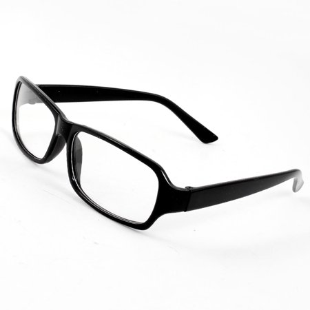 Vintage Arm Clear Lens Plain Spectacles Fashion Eyewear Glasses Black for (Fashion Eyewear Brands)